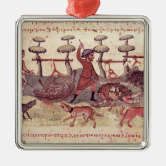 Hunting with Nets Christmas Tree Ornament