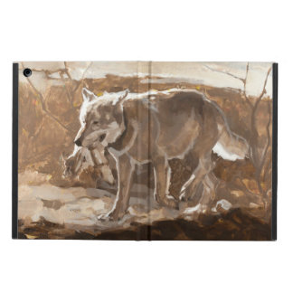 Hunting Wolf Monochrome Brown iPad Air Case