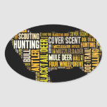 Hunting Word Cloud Oval Sticker