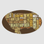 Hunting Word Cloud Oval Stickers