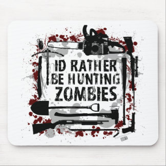 Hunting Zombies Mouse Pad