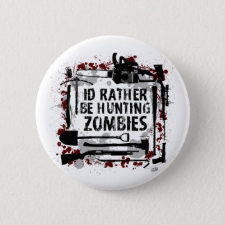 Hunting Zombies Pinback Button
