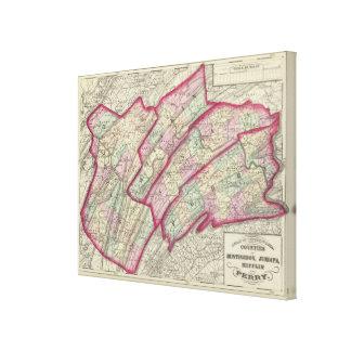 Huntingdon, Juniata, Mifflin, condados de Perry Impresiones En Lona