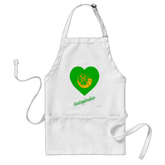 Huntingdonshire Flag Heart with Name Adult Apron