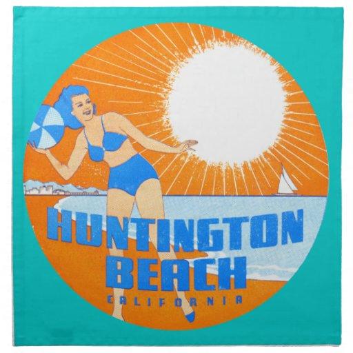 Huntington Beach 1947 California Servilletas Imprimidas