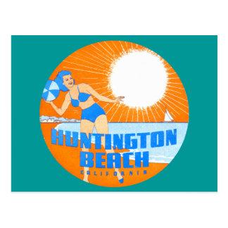 Huntington Beach 1947 California Tarjeta Postal
