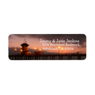 Huntington Beach California custom Label