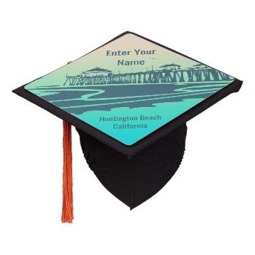 Beach Themed Huntington Beach, California Graduation Cap Topper