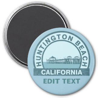 Huntington Beach, California Imán Redondo 7 Cm