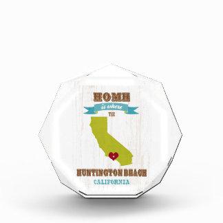 Huntington Beach, California Map – Home Is Where Acrylic Award