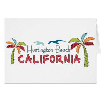 Huntington Beach California palms Card