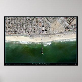 Huntington Beach California satellite poster