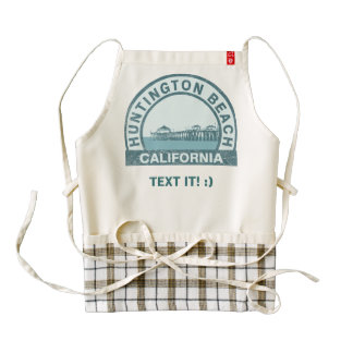 Huntington Beach, California Zazzle HEART Apron