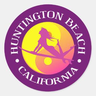 Huntington Beach Classic Round Sticker