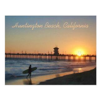 Huntington Beach en la postal de la puesta del sol