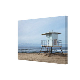 Huntington Beach Lifeguard Post 13 Canvas Print