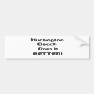 Huntington Beach mejora Pegatina De Parachoque