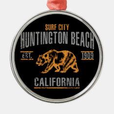 Huntington Beach Metal Ornament at Zazzle