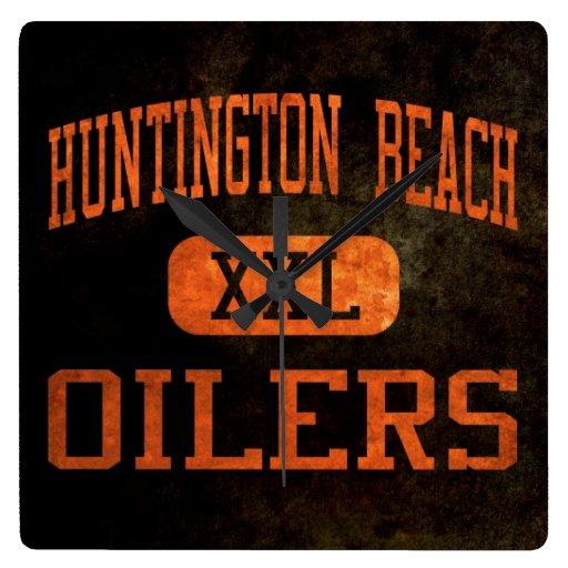 Huntington Beach Oilers Athletics Wall Clock