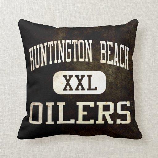 Huntington Beach Oilers Athletics Throw Pillows