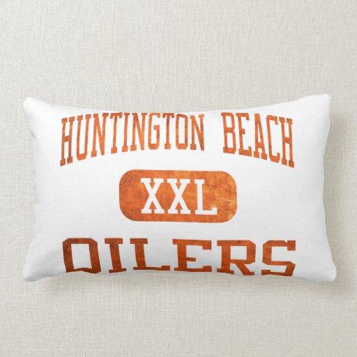 Huntington Beach Oilers Athletics Throw Pillow