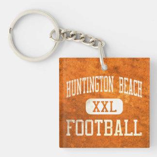 Huntington Beach Oilers Football Square Acrylic Keychain
