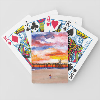Huntington Beach Pier 2 Bicycle Playing Cards