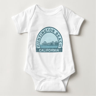 Huntington Beach Pier Baby Bodysuit