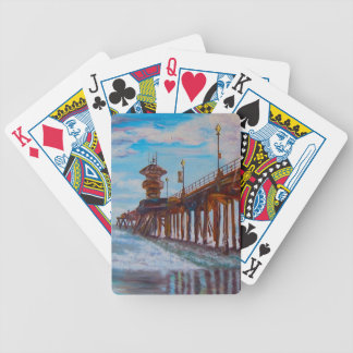 Huntington Beach Pier Bicycle Playing Cards