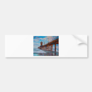 Huntington Beach Pier Bumper Sticker
