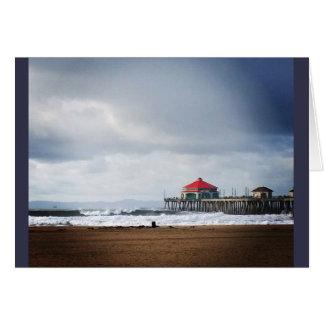 Huntington Beach Pier, CA Card