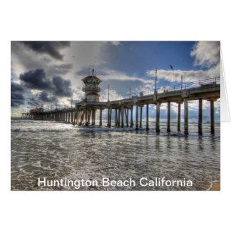 """Huntington Beach Pier """" Ca Card"""