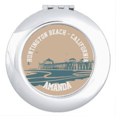 Huntington Beach Pier, California Mirror For Makeup