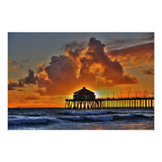 Huntington Beach Pier California Posters