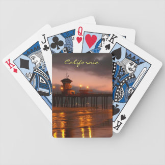 Huntington Beach Pier California Sunset Bicycle Playing Cards