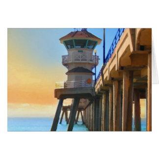Huntington Beach Pier Card