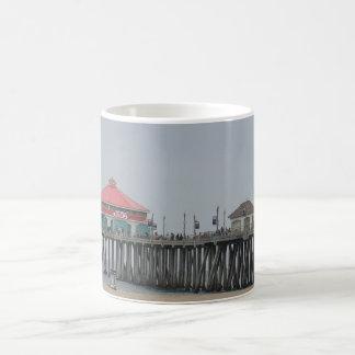 Huntington Beach Pier Classic White Coffee Mug