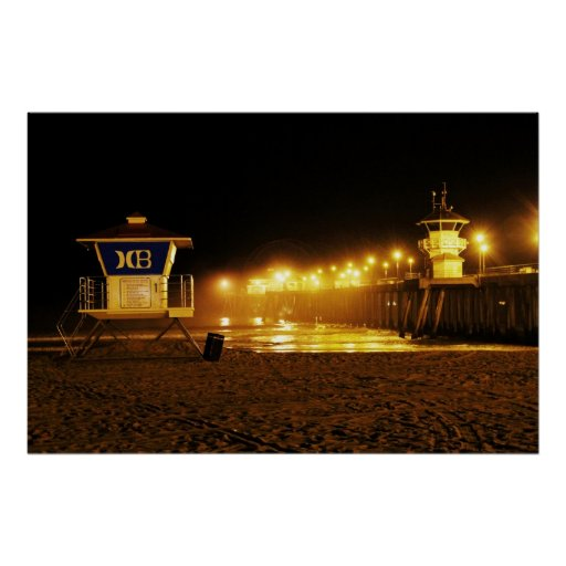 """Huntington Beach Pier """"early morning Posters"""