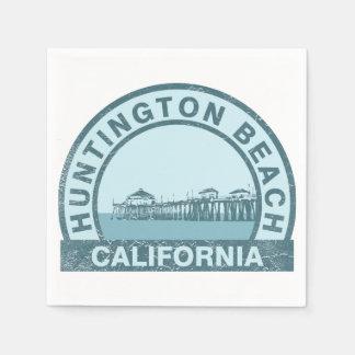 Huntington Beach Pier Paper Napkin