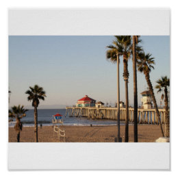 Huntington Beach Pier Poster