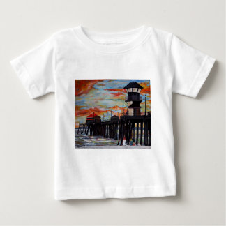Huntington Beach Pier Sunset Baby T-Shirt