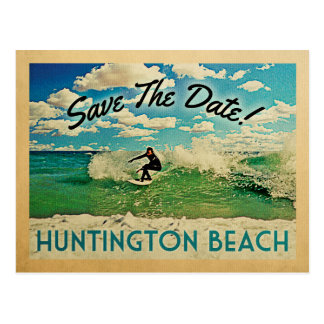 Huntington Beach Save The Date California Surf Postcard
