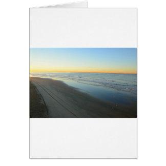 Huntington Beach Sunrise at the beach Card