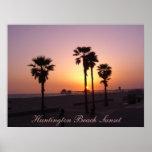 Huntington Beach Sunset Poster