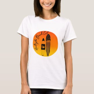 """""""Huntington Beach Surfboards and Sunsets"""" T-Shirt"""