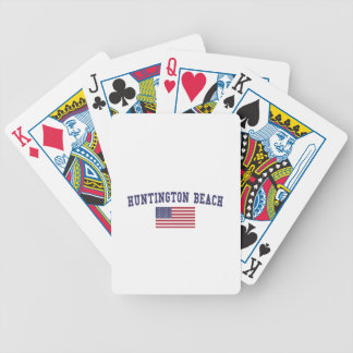 Huntington Beach US Flag Bicycle Playing Cards