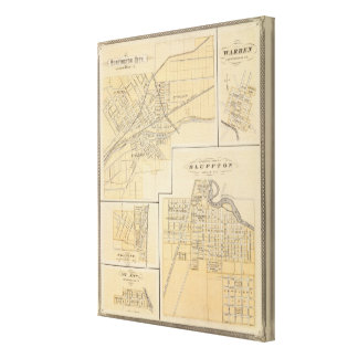 Huntington City, Huntington Co Canvas Print