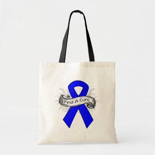 Huntington Disease Find A Cure Ribbon Bag