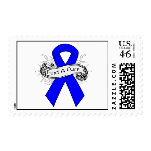 Huntington Disease Find A Cure Ribbon Postage Stamp