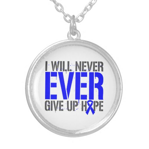 Huntington Disease I Will Never Ever Give Up Hope Pendant